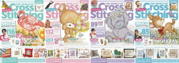 The World of Cross Stitching covers for May to August 2017