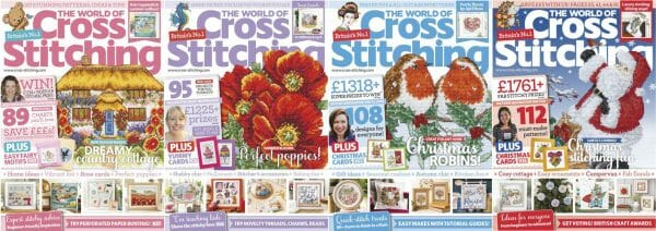 The World of Cross Stitching covers for September to December 2017