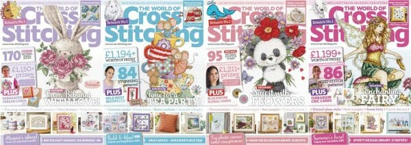 The World of Cross Stitching covers for May to August 2018