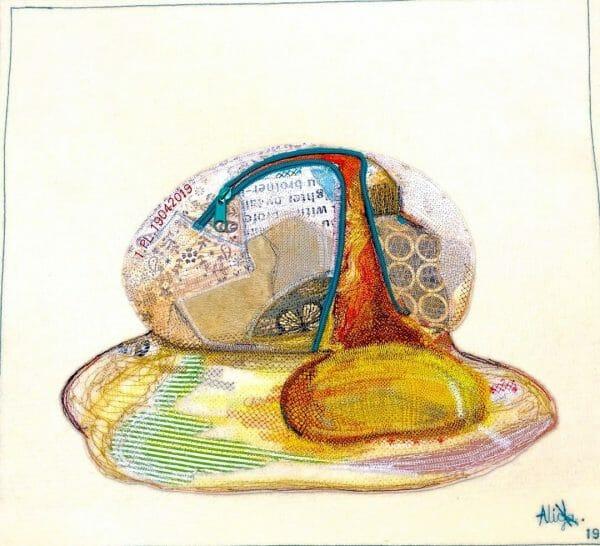 Alicja Kozłowska - Broken Egg - Art Quilt