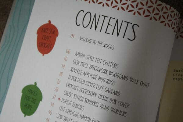 contents page for this book woodland friends