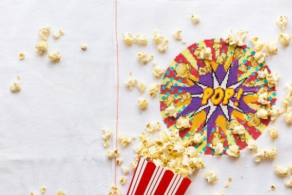 Apple Tree Cross Stitch's Popcorn design for XStitch Magazine Issue 8