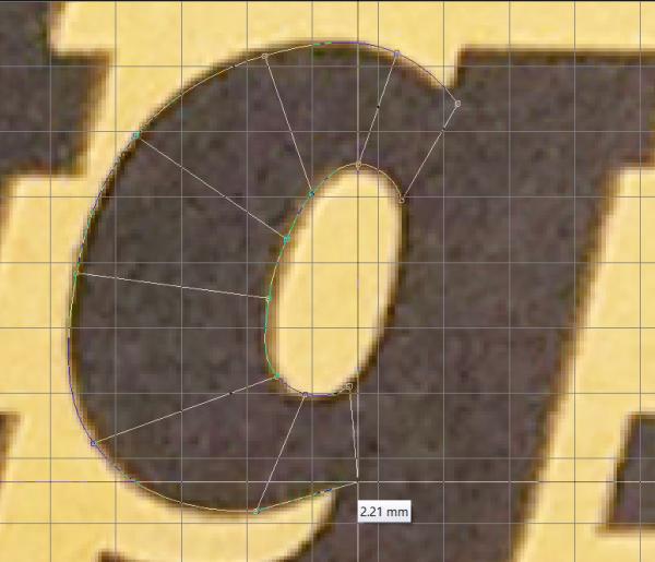 column input on a satin stitch G