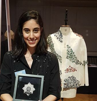 Meet Shlomit Bela Tawfik, second-place winner in the Hand & Lock Prize for Embroidery, Textile Open category