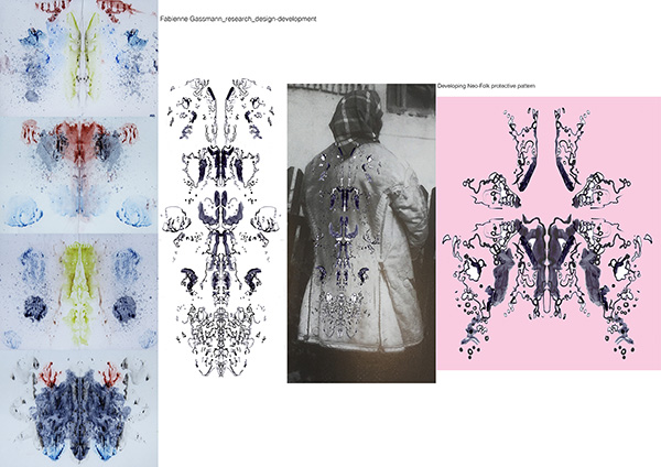 Design development, by Fabienne Gassmann, third-place winner, Hand & Lock Prize for Embroidery, fashion-open category
