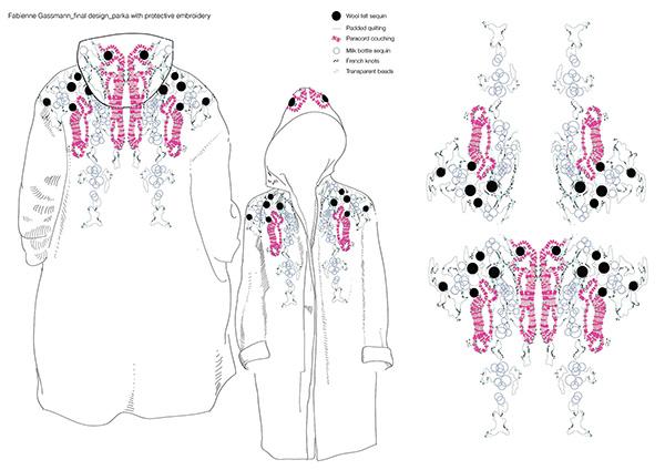Pink Parka final design, by Fabienne Gassmann