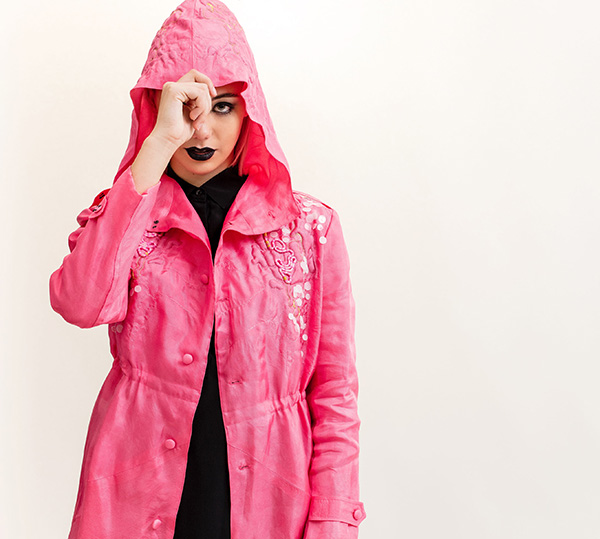 Pink Parka, by Fabienne Gassmann, third-place winner in the Hand & Lock Prize for Embroidery, fashion-open category; Image credit, Jutta Klee