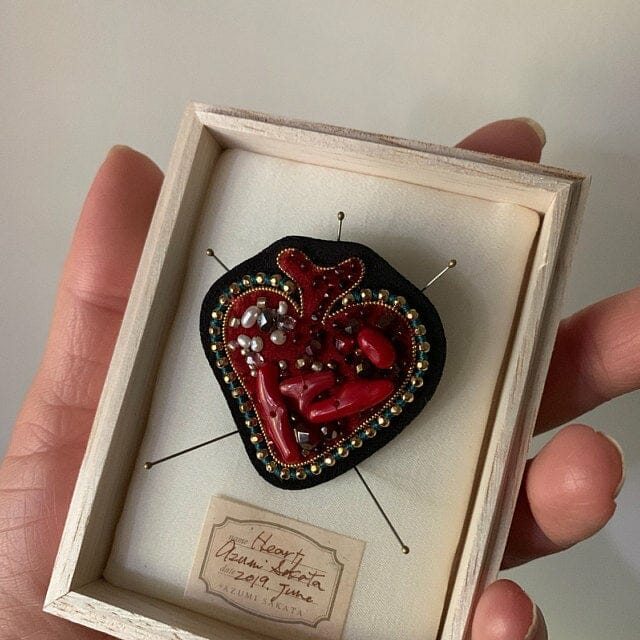 Azumi Sakata - Heart Brooch