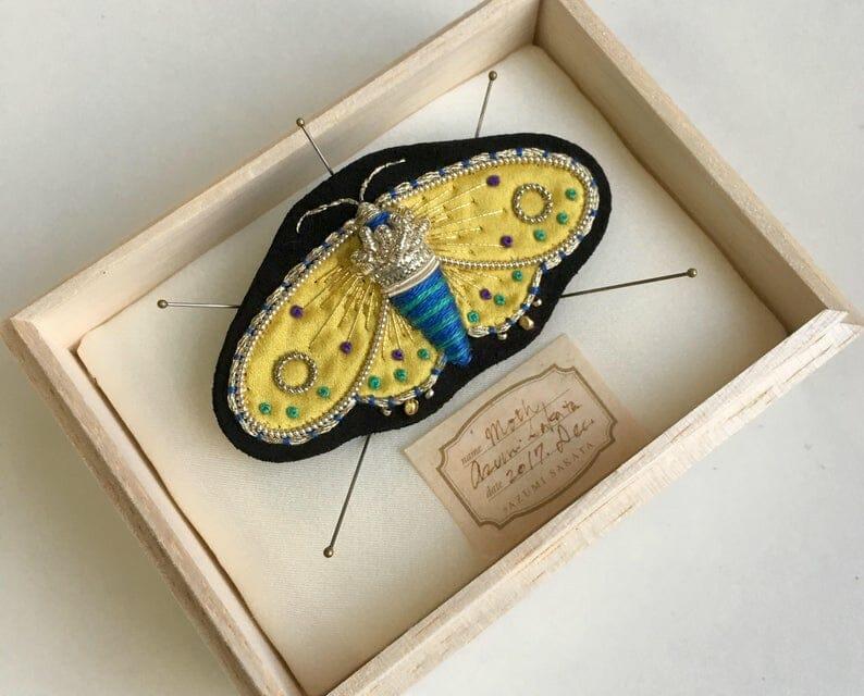 Azumi Sakata - Moth Brooch