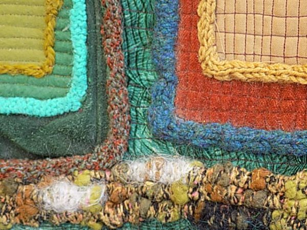 Using french knitting to create surface depth