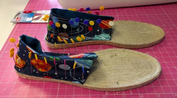 Craft rocks pinned espadrilles
