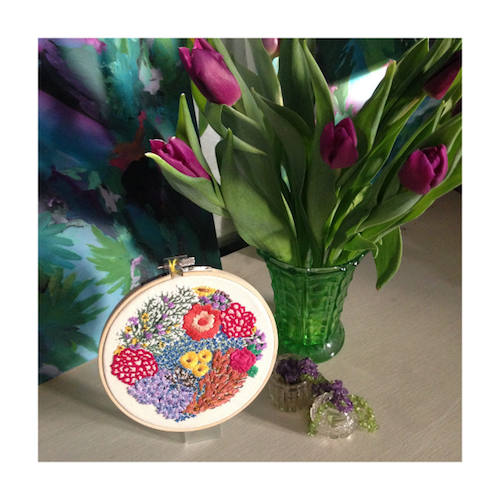 Yellow Tulip Crafts - Floral Embroidery