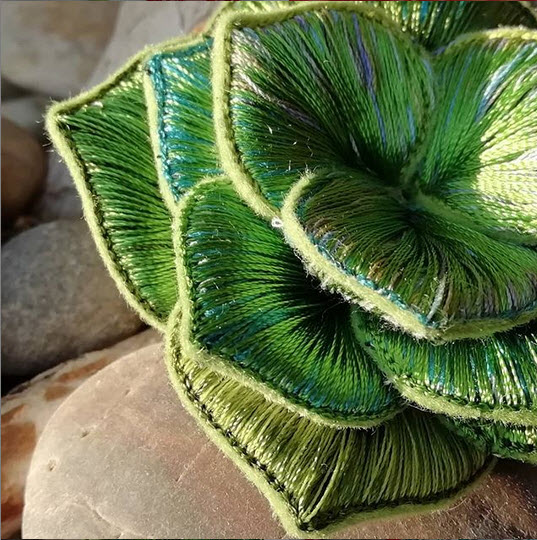 3-D plant embroidery by Jessie Dickinson