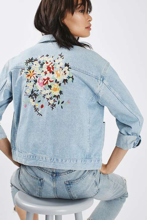 Upcycling for sustainability Denim Jacket - Photo credit: Topshop