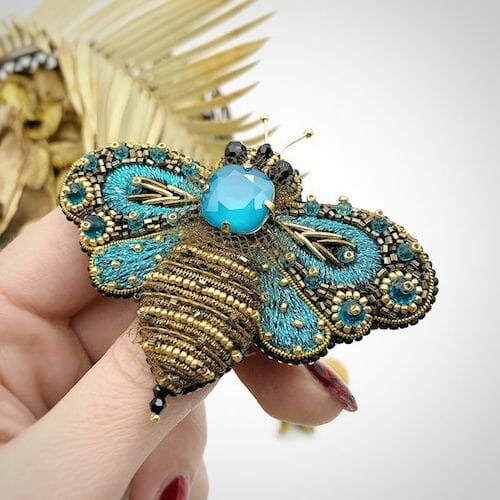 Sova Brooch - Blue Butterfly Brooch