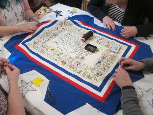 Working on the quilt: the Colonial border - the finishing of a quilt