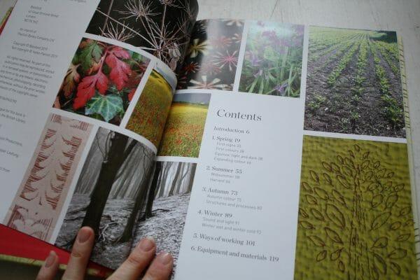 Mark-Making ideas through the seasons, contents list