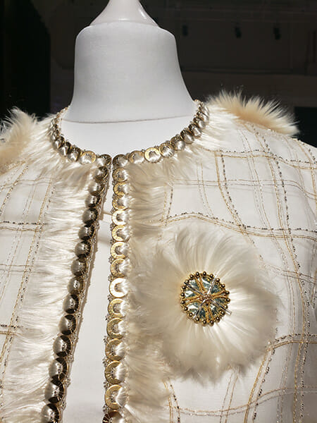 Front close up, Sheila Ramsay, First-place winner, Hand & Lock Prize for Embroidery, Fashion Open Category
