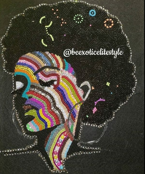 Beaded Portrait by Shera Duncan Be Exotic Elite Style