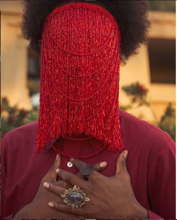 Shango #6, beaded mask by Ta Meu Bem of Ta Meu Jewelry