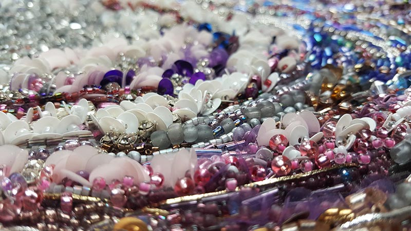Andromeda beadwork detail 3 by Samantha Trevis