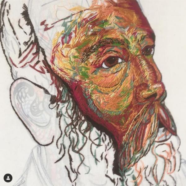 William Midgley portrait in progress, by Sorrell Kerrison
