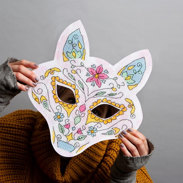 Apple Tree Cross Stitch - Fox Mask from Issue 14: Mixtape Vol. 3