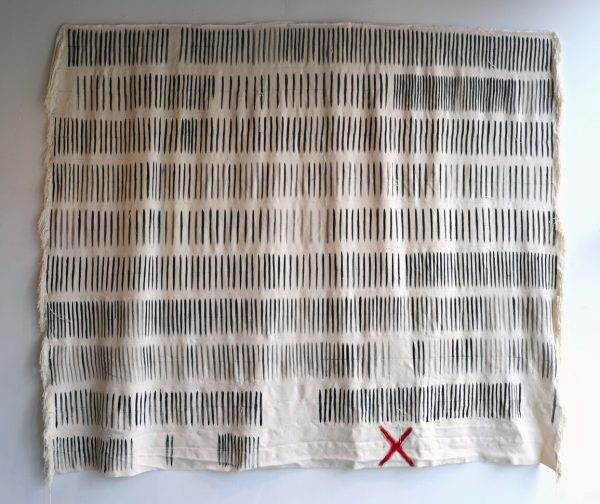Bryana Bibbs - How Many More (2020) - Handwoven cotton and acrylic paint
