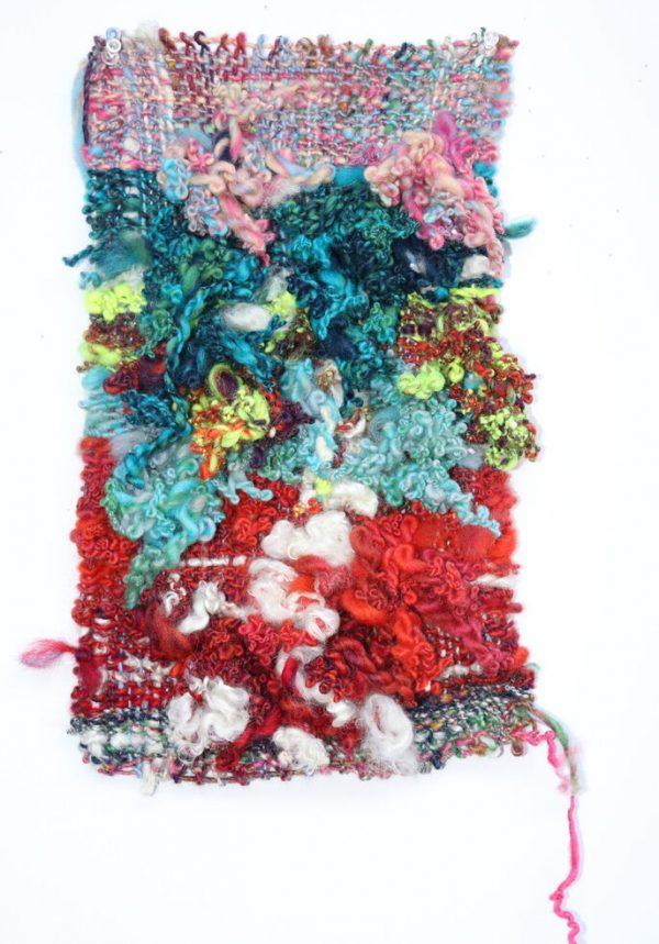 Bryana Bibbs - Journal Series 11.22.20.2 - Handwoven handspun wool and mohair locks