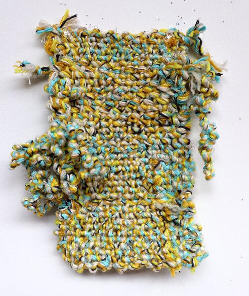 Bryana Bibbs - Quarantine Series No. 19 - Handwoven hand-plied cotton and acrylic yarn