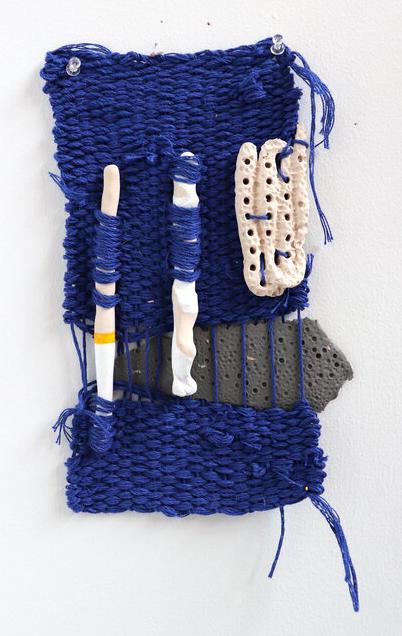 Bryana Bibbs - Quarantine Series No. 7 - Handwoven cotton and handmade clay pieces