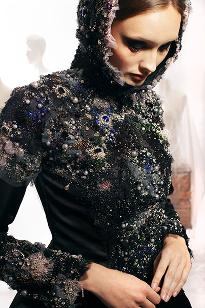 """""""Decay,"""" by Olga Ochkas, first-place winner, Open Fashion category, Hand & Lock Prize for Embroidery"""