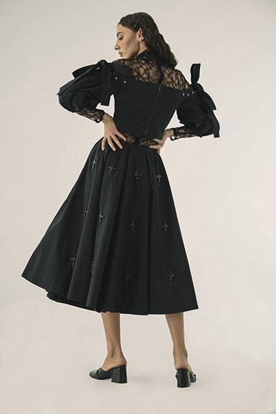 Moral Standards dress, back side, by Olga Ochkas