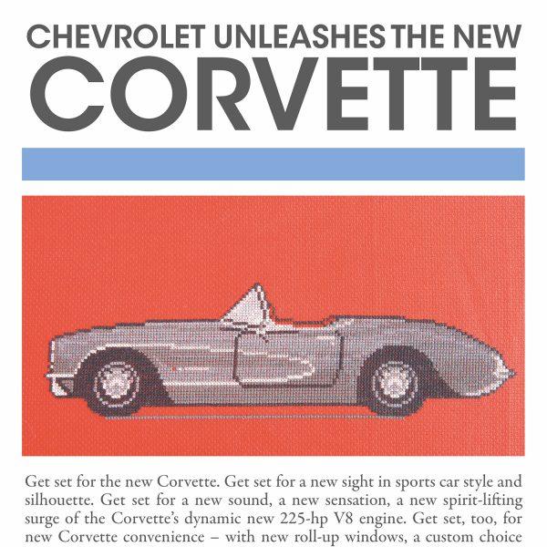 PXLCars - Corvette from Issue 12: Noir