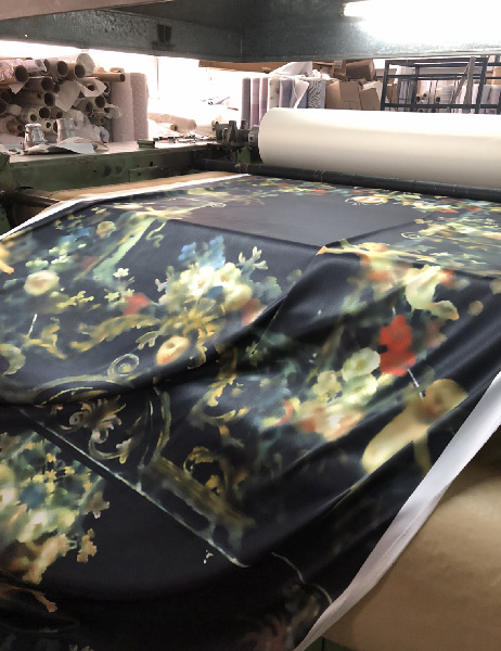 Custom fabric designed and made by Rotem Izhaki