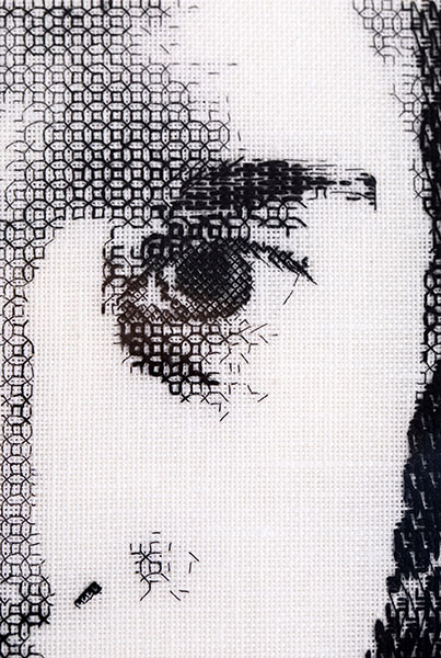 Blackwork embroidery shading, by Martha Blackburn