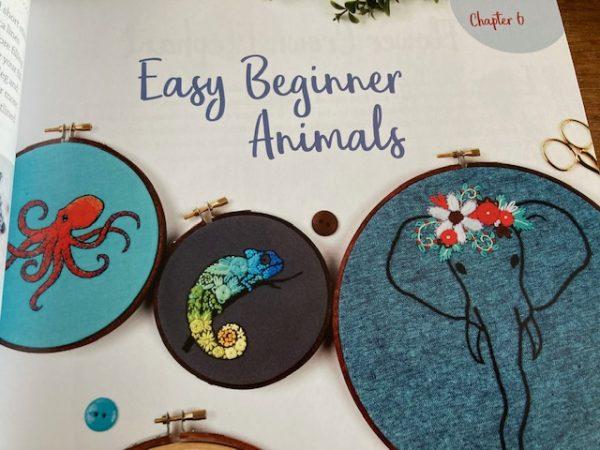 Animal Embroidery Workbook Jessica Long - beginner