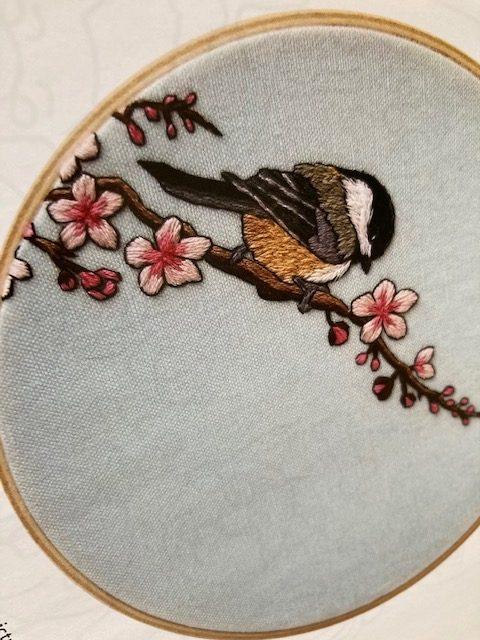 Animal Embroidery Work birdbook Jessica Long