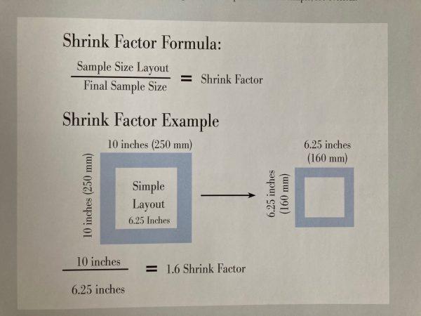 Jenny Hill felt shrinkage diagram