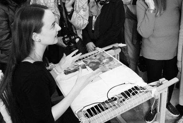 Martha Blackburn discusses her embroidery