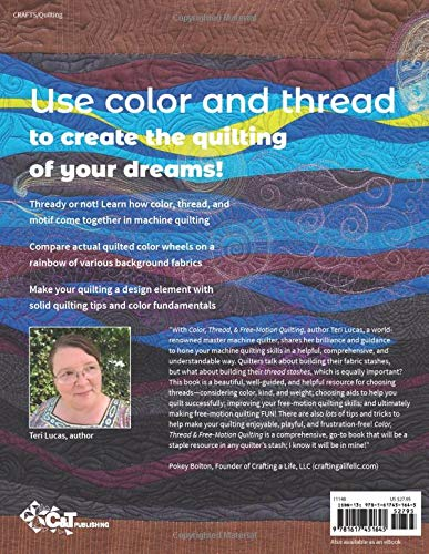Book review - Color, thread and free-motion quilting by Teri Lucas