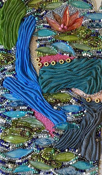 Embroidery detail, Rachel Ellenbogen