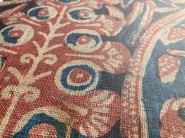 Textiles of India linen style close up