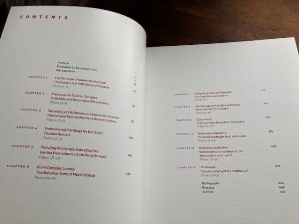 Textiles of India contents list