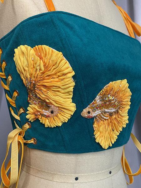 Marine motif corset top, Rachel Ellenbogen